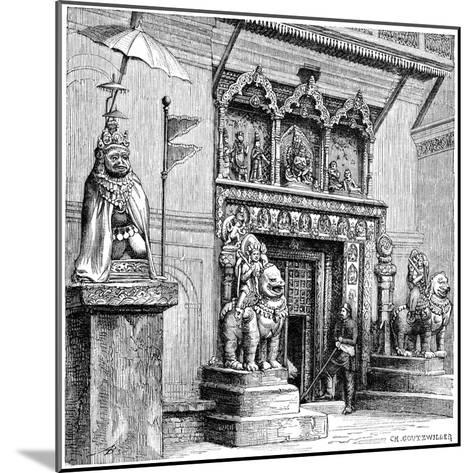 Hanuman Gate of the Royal Palace, Kathmandu, Nepal, 1895-C Goutzwiller-Mounted Giclee Print