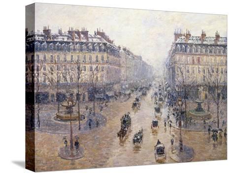 L'Avenue De L'Op?ra, Snow, Morning, 1898-Camille Pissarro-Stretched Canvas Print