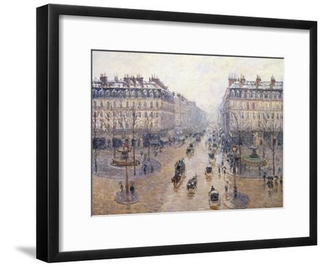 L'Avenue De L'Op?ra, Snow, Morning, 1898-Camille Pissarro-Framed Art Print