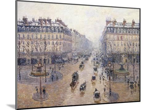 L'Avenue De L'Op?ra, Snow, Morning, 1898-Camille Pissarro-Mounted Giclee Print