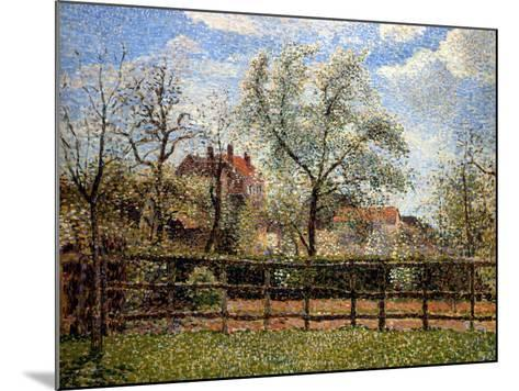 Pear Trees and Flowers at Eragny, Morning, 1886-Camille Pissarro-Mounted Giclee Print
