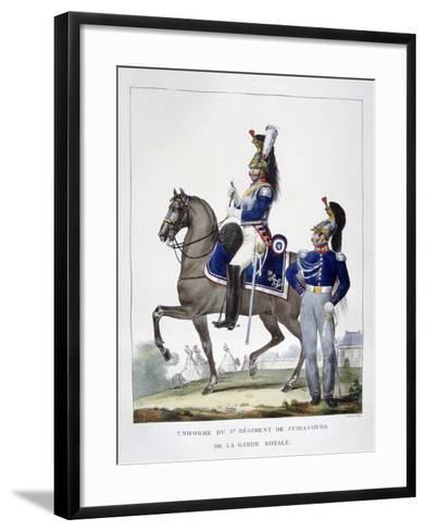 Uniform of the 1st Regiment of Chasseurs of the Royal Guard, France, 1823-Charles Etienne Pierre Motte-Framed Art Print