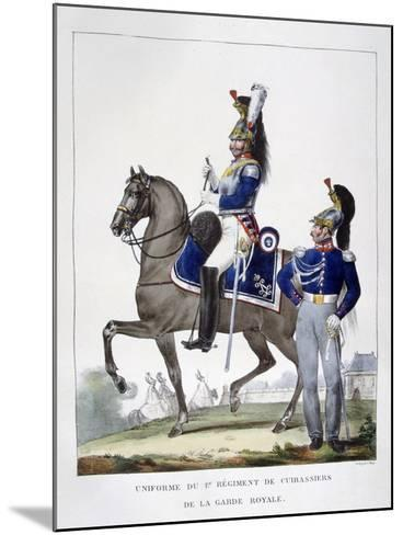 Uniform of the 1st Regiment of Chasseurs of the Royal Guard, France, 1823-Charles Etienne Pierre Motte-Mounted Giclee Print