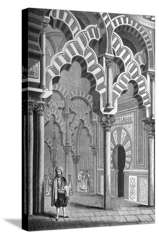 The Mezquita, Córdoba, Spain, 1849- Cottard-Stretched Canvas Print