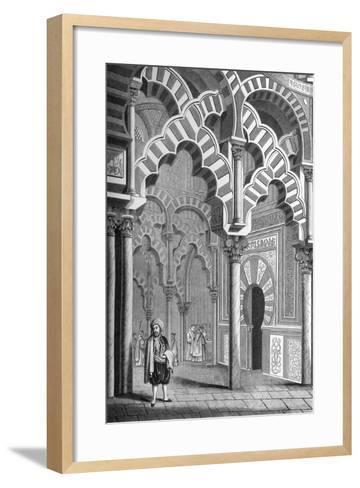 The Mezquita, Córdoba, Spain, 1849- Cottard-Framed Art Print