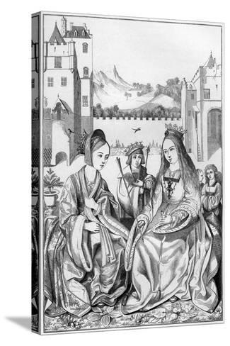 Saint Catherine of Alexandria, 15th Century- Cottard-Stretched Canvas Print