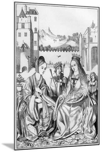 Saint Catherine of Alexandria, 15th Century- Cottard-Mounted Giclee Print