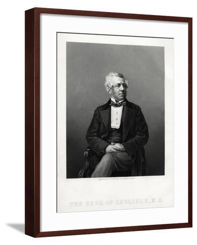 George William Frederick Howard, 7th Earl of Carlisle, British Politician and Statesman, C1880-DJ Pound-Framed Art Print