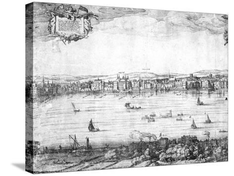 Panorama of London, 1616-Claes Jansz Visscher-Stretched Canvas Print