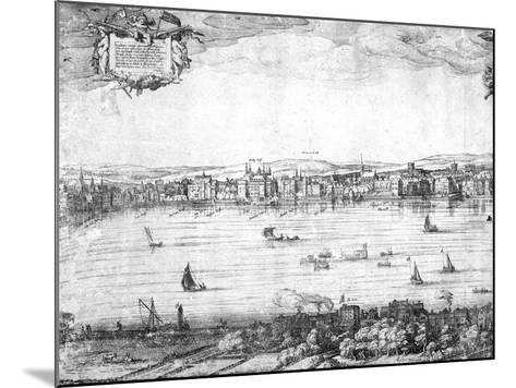 Panorama of London, 1616-Claes Jansz Visscher-Mounted Giclee Print