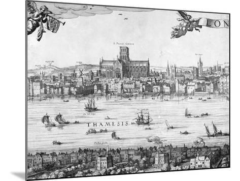 Panorama of London, 1616-Claes Jansz Visscher-Mounted Giclee Print