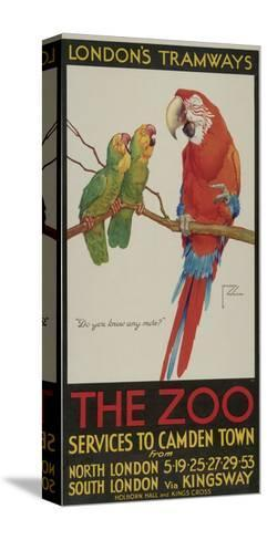 The Zoo, London County Council (Lc) Tramways Poster, 1932-Clarence Lawson Wood-Stretched Canvas Print