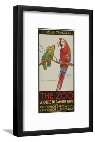 The Zoo, London County Council (Lc) Tramways Poster, 1932-Clarence Lawson Wood-Framed Art Print