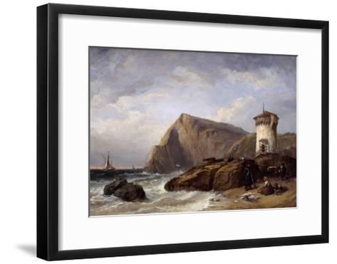 Terracina Tower, 1854-Clarkson Stanfield-Framed Art Print