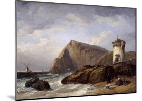 Terracina Tower, 1854-Clarkson Stanfield-Mounted Giclee Print