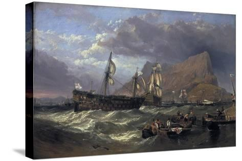 The 'Victory' Towed into Gibraltar, 1854-Clarkson Stanfield-Stretched Canvas Print