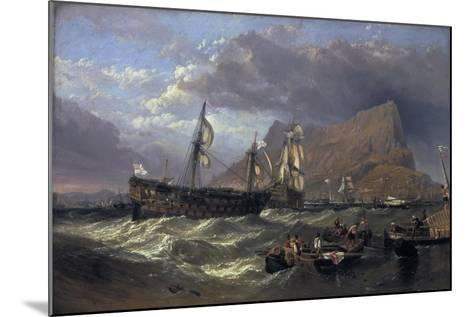 The 'Victory' Towed into Gibraltar, 1854-Clarkson Stanfield-Mounted Giclee Print