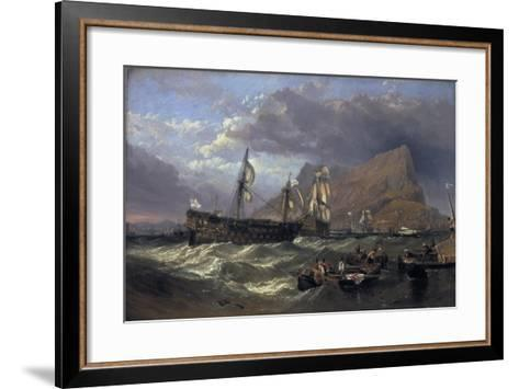 The 'Victory' Towed into Gibraltar, 1854-Clarkson Stanfield-Framed Art Print