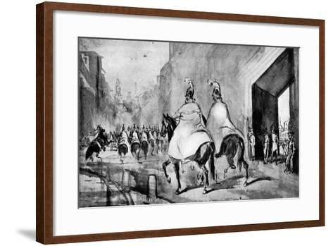 Cuirassiers, 19th Century-Constantin Guys-Framed Art Print