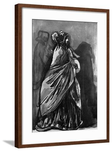 La Dame Au Chale, 19th Century-Constantin Guys-Framed Art Print