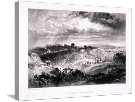 Hampstead Heath, Hampstead, London, 1832-David Lucas-Stretched Canvas Print