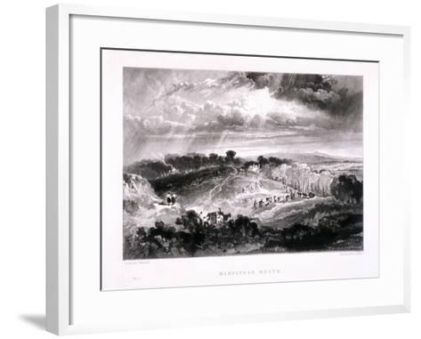 Hampstead Heath, Hampstead, London, 1832-David Lucas-Framed Art Print