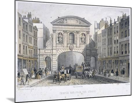 Temple Bar, London, 1854-Deroy-Mounted Giclee Print