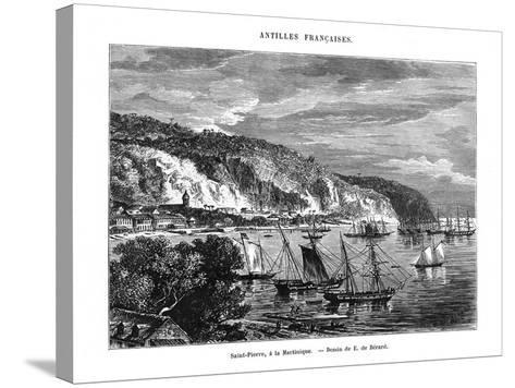 Saint Pierre, Martinique, 19th Century-E de Berard-Stretched Canvas Print