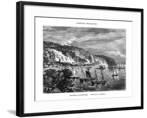 Saint Pierre, Martinique, 19th Century-E de Berard-Framed Art Print