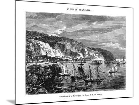 Saint Pierre, Martinique, 19th Century-E de Berard-Mounted Giclee Print
