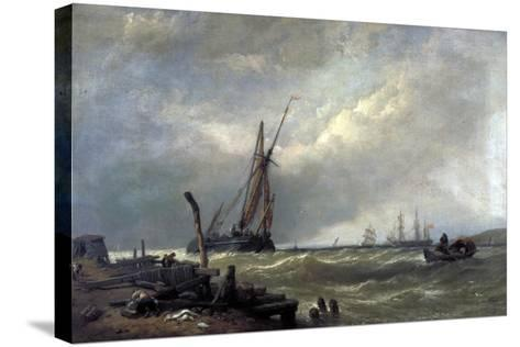 On the Texel, 1856-Clarkson Stanfield-Stretched Canvas Print