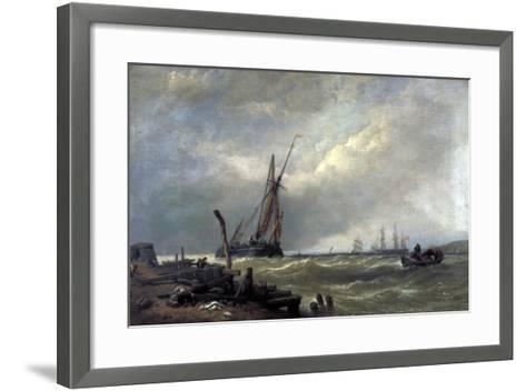 On the Texel, 1856-Clarkson Stanfield-Framed Art Print