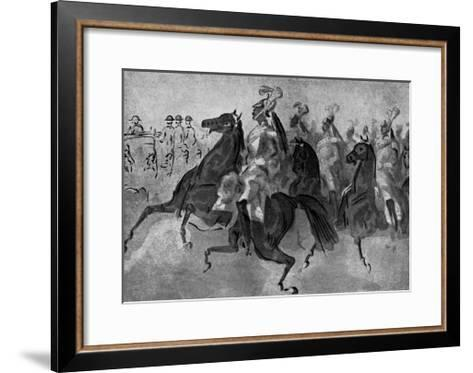 The Escort of Cuirassiers, 19th Century-Constantin Guys-Framed Art Print