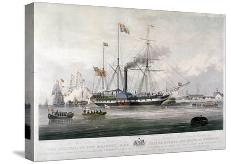 Queen Victoria and Prince Albert Arriving at the Royal Dockyard, Woolwich, Kent, 1843-E Duncan-Stretched Canvas Print