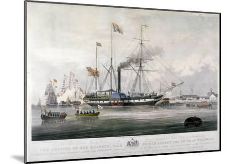 Queen Victoria and Prince Albert Arriving at the Royal Dockyard, Woolwich, Kent, 1843-E Duncan-Mounted Giclee Print