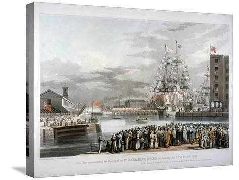 The Opening of St Katharine's Dock, London, 1828-E Duncan-Stretched Canvas Print