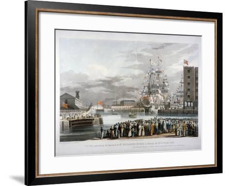 The Opening of St Katharine's Dock, London, 1828-E Duncan-Framed Art Print