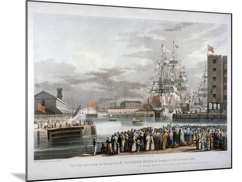 The Opening of St Katharine's Dock, London, 1828-E Duncan-Mounted Giclee Print