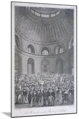 Bank of England, Threadneedle Street, London, 1804-E Edwards-Mounted Giclee Print