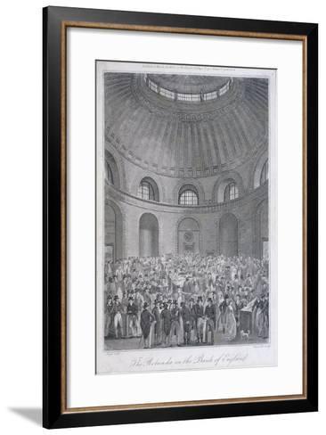 Bank of England, Threadneedle Street, London, 1804-E Edwards-Framed Art Print