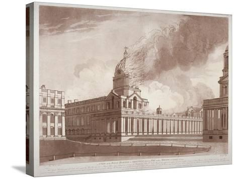 View of the Fire at Greenwich Hospital, London, on the Morning of 2nd January, 1779-E Edye-Stretched Canvas Print