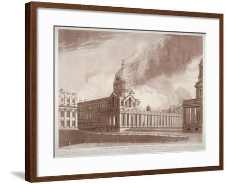 View of the Fire at Greenwich Hospital, London, on the Morning of 2nd January, 1779-E Edye-Framed Art Print