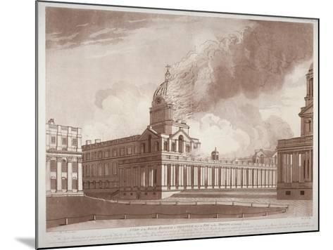 View of the Fire at Greenwich Hospital, London, on the Morning of 2nd January, 1779-E Edye-Mounted Giclee Print