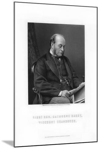 Gathorne Gathorne-Hardy, 1st Earl of Cranbrook, English Politician, 1881-E Stodart-Mounted Giclee Print
