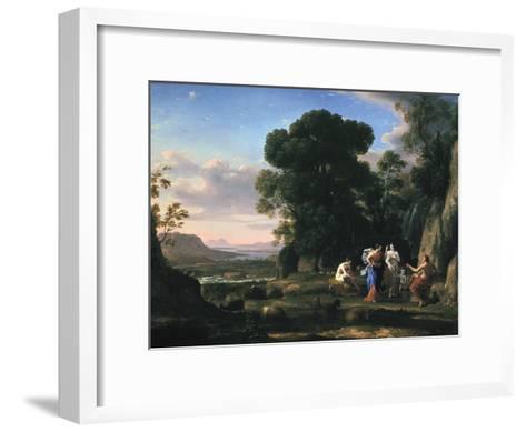 Judgement of Paris (1645-164)-Claude Lorraine-Framed Art Print