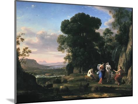 Judgement of Paris (1645-164)-Claude Lorraine-Mounted Giclee Print