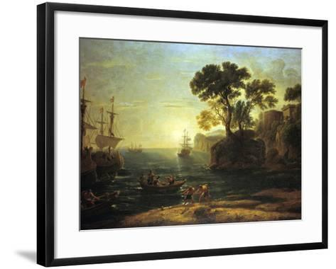 Arrival of Aeneas in Italy, the Dawn of the Roman Empire, (C1620-1680)-Claude Lorraine-Framed Art Print