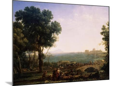 Battle on the Bridge, (Battle Between Emperors Maxentius and Constantin), 1655-Claude Lorraine-Mounted Giclee Print