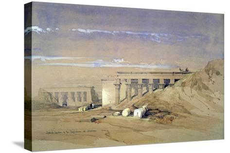 Lateral View of the Temple Called Typhonaeum at Dendera, Egypt, 19th Century-David Roberts-Stretched Canvas Print