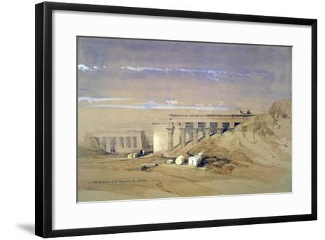 Lateral View of the Temple Called Typhonaeum at Dendera, Egypt, 19th Century-David Roberts-Framed Art Print